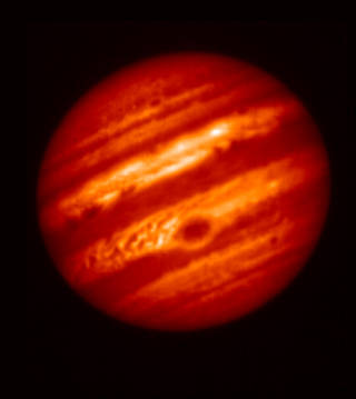 False-color image of Jupiter