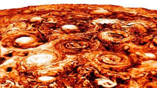 Computer-generated image of Jupiter's south polar region