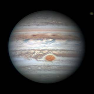 This Earth-based observation of Jupiter and the South Tropical Disturbance approaching the Great Red Spot was captured on Jan. 2