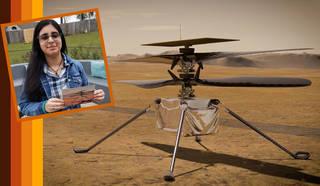 Vaneeza Rupani и Марс вертолет