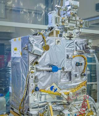 spaceflight hardware in silver