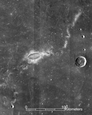LRO image of Reiner Gamma lunar swirl