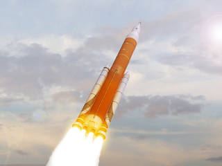 Artist concept of the Space Launch System.