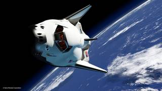 SNC Dream Chaser in orbit