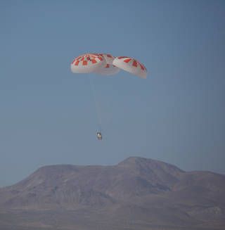 SpaceX performed its fourteenth overall parachute test supporting Crew Dragon Development March 4, 2018, over the Mojave Desert