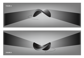 """grayscale schematic showing how the Bat Shadow """"flaps"""""""