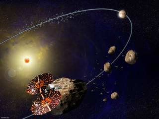 artist concept (not to scale) of Lucy mission