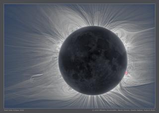 the sun's corona and the moon