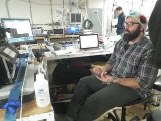 Jason Graff working the flow cytometer