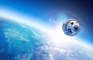 CST-100 Starliner in orbit
