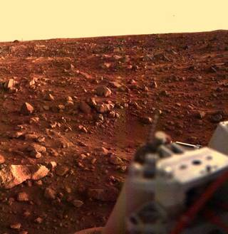 Image of Mars from Viking lander 1