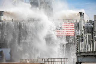 NASA eclipsed a milestone with its latest successful water flow test on the mobile launcher.