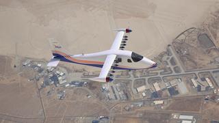 El primer avión X totalmente eléctrico de la NASA, el X-57 Maxwell, en su configuración final.