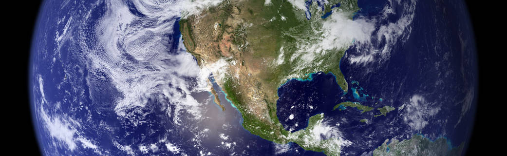 composite view of North America from space