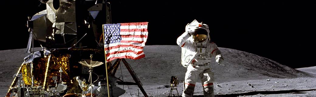 John Young on the Moon