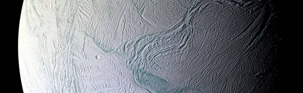 Image of the surface of Enceladus