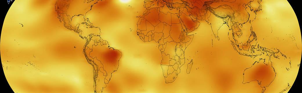 Data visualization of 2016 global temperatures