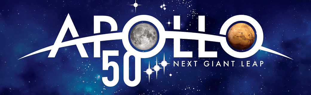 Apollo 50th anniversary logo