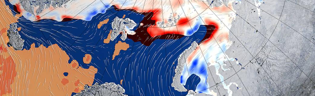 Ekstremt varm vinter svækkede havisen om Nordpolen