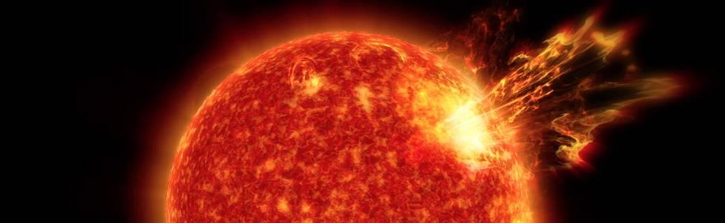 artist concept of a star erupting