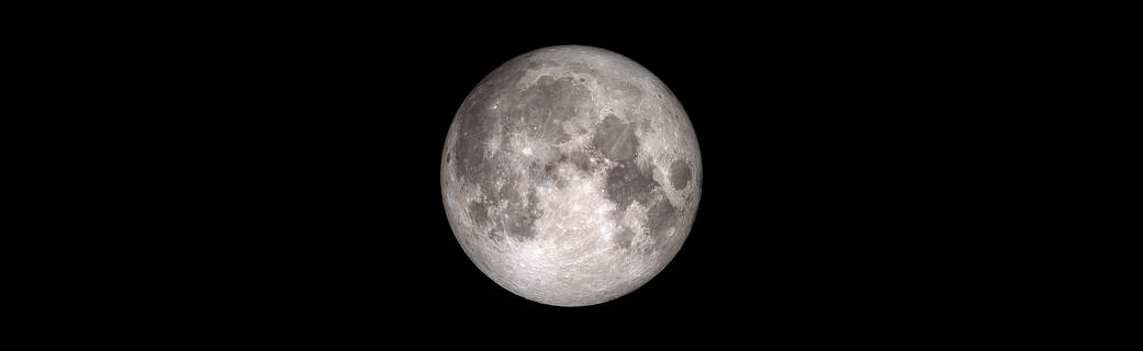 view of a full moon, compiled from LRO data