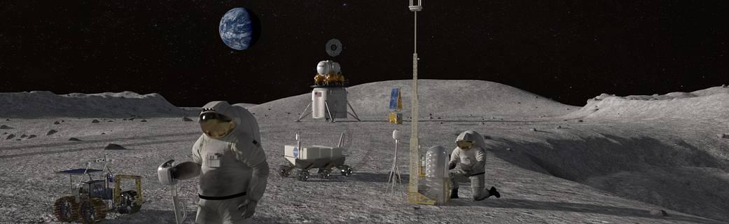 Human Landing Moon