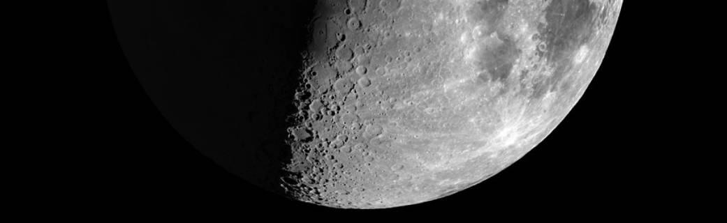 half-moon on black field