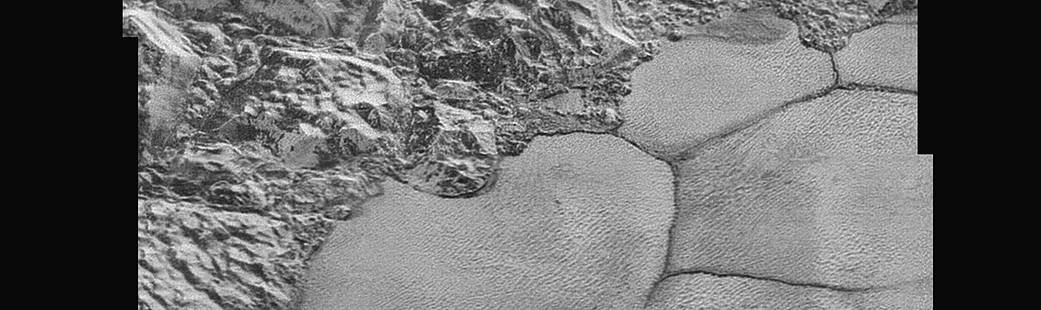 This is the most detailed view of Pluto's terrain you'll see for a very long time. This mosaic strip – extending across the hemisphere that faced the New Horizons spacecraft as it flew past Pluto on July 14, 2015 – now includes all of the highest-resolution images taken by the NASA probe. (Be sure to zoom in for maximum detail.) With a resolution of about 260 feet (80 meters) per pixel, the mosaic affords New Horizons scientists and the public the best opportunity to examine the fine details of the various types of terrain on Pluto, and determine the processes that formed and shaped them.