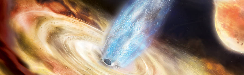 illustration of black hole MAXI J1820+070