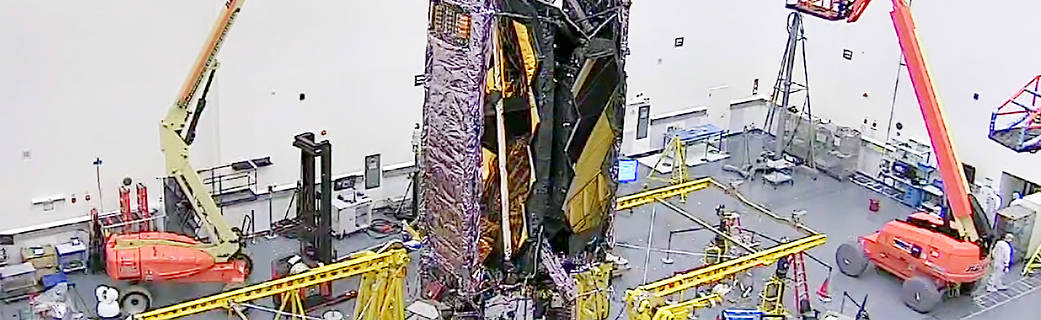 James Webb rumteleskopet pakket og klar til opsendelse