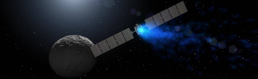 Artist's rendering shows NASA's Dawn spacecraft