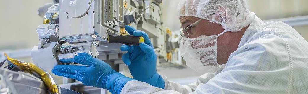 Goddard engineer Matt Ashmore fit checks RRM3 tools