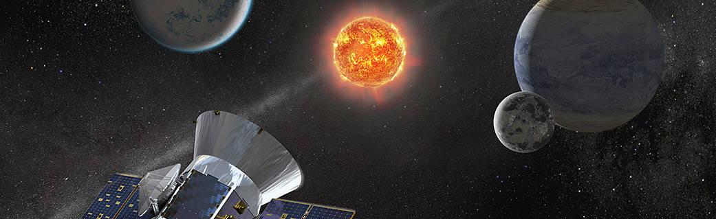 Illustration of NASA's Transiting Exoplanet Survey Satellite