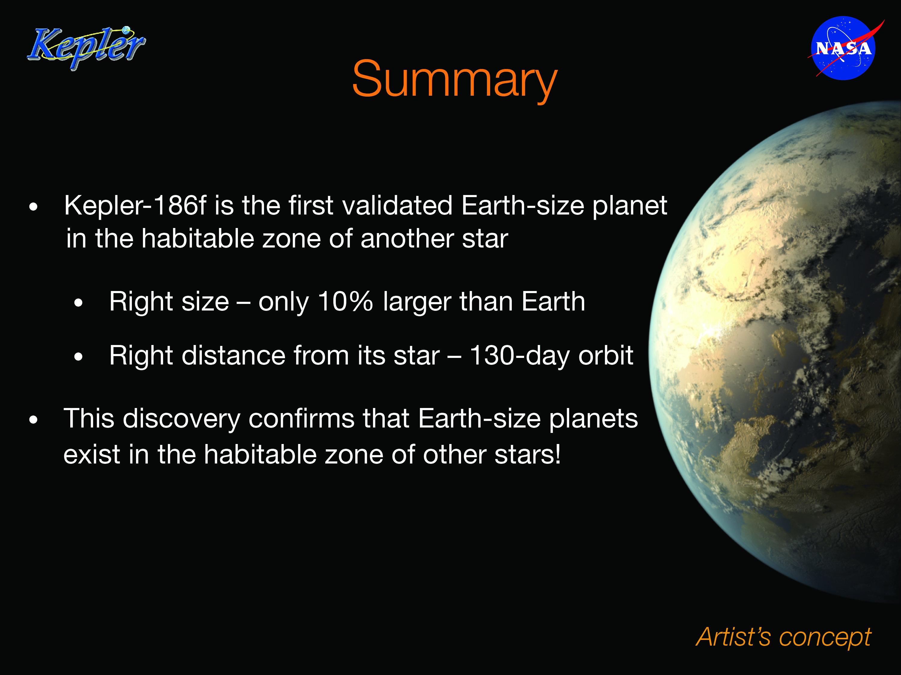 Summary Elisa Quintana on planet kepler 186f