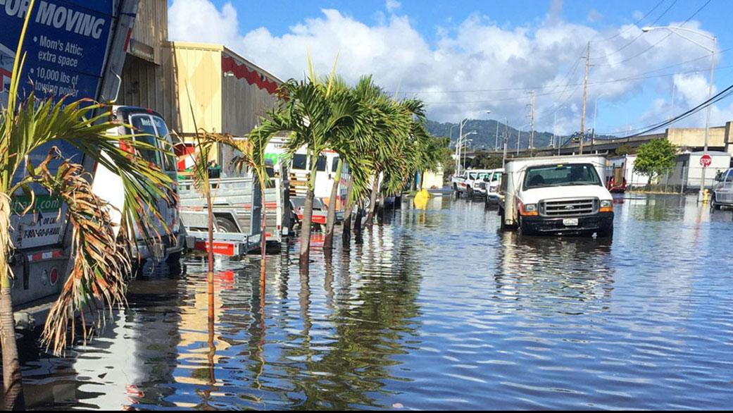 Incendi inondazioni NASA Effetti delle inondazioni alle Hawaii Credits: Hawaii Sea Grant King Tides Project
