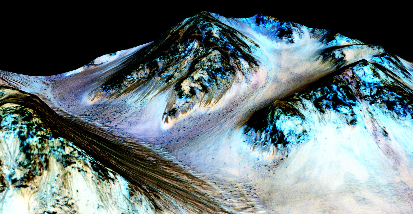 Top 5 NASA Discoveries In Hindi, Image result for 4. Flowing Water On Mars