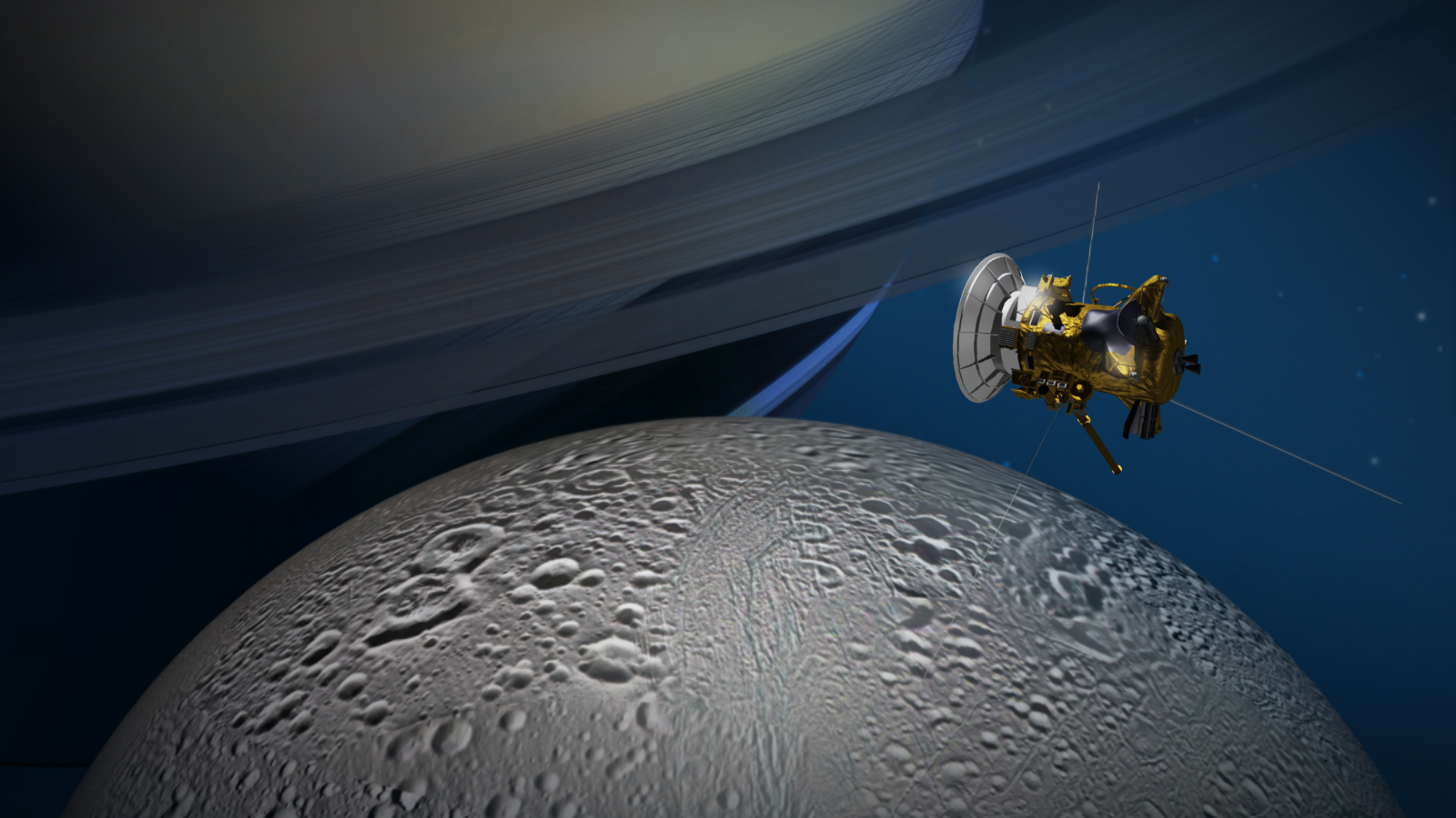 How life on Earth might survive on Saturn's ice moon Enceladus