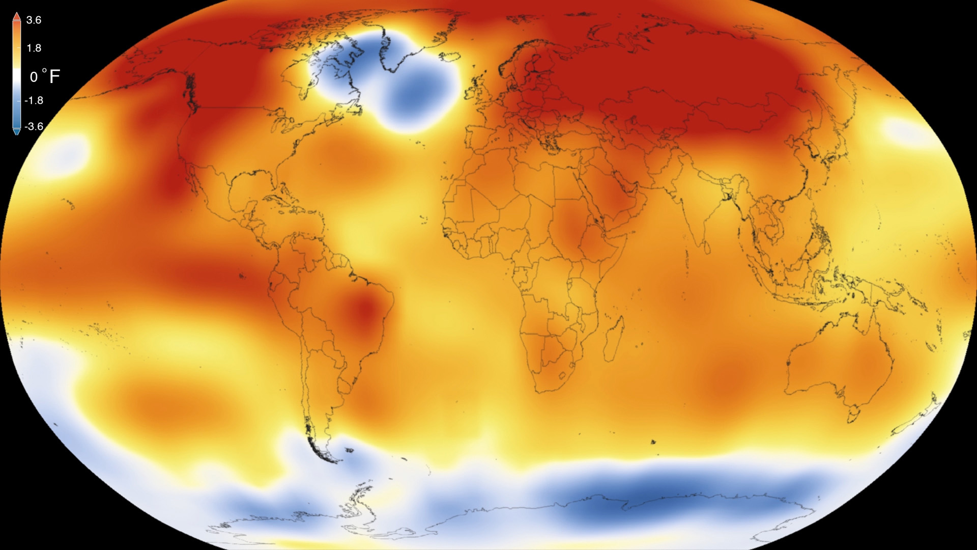 Global average temperature 2015