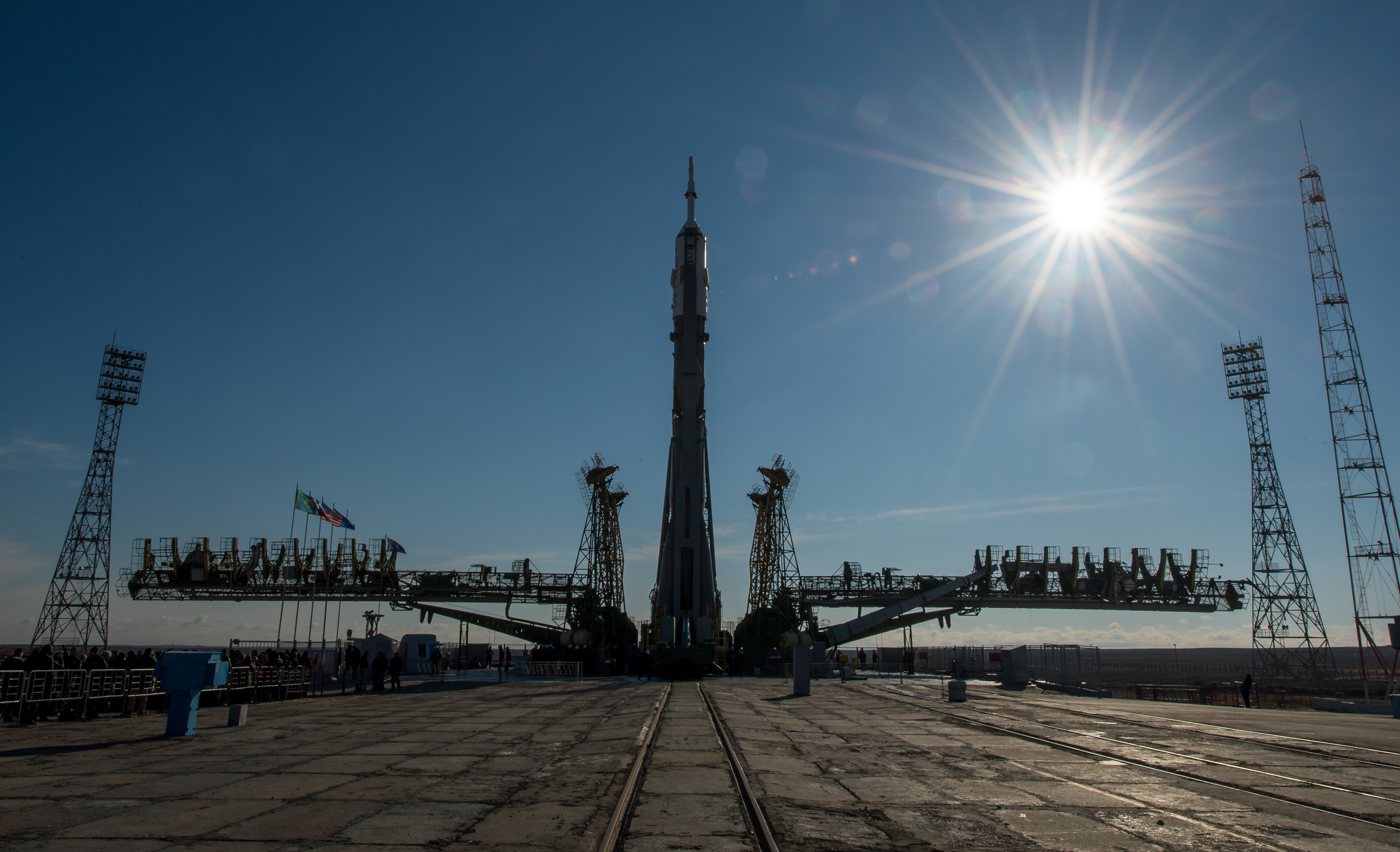 Soyuz Spacecraft Rolled Out For Launch of One-Year Crew