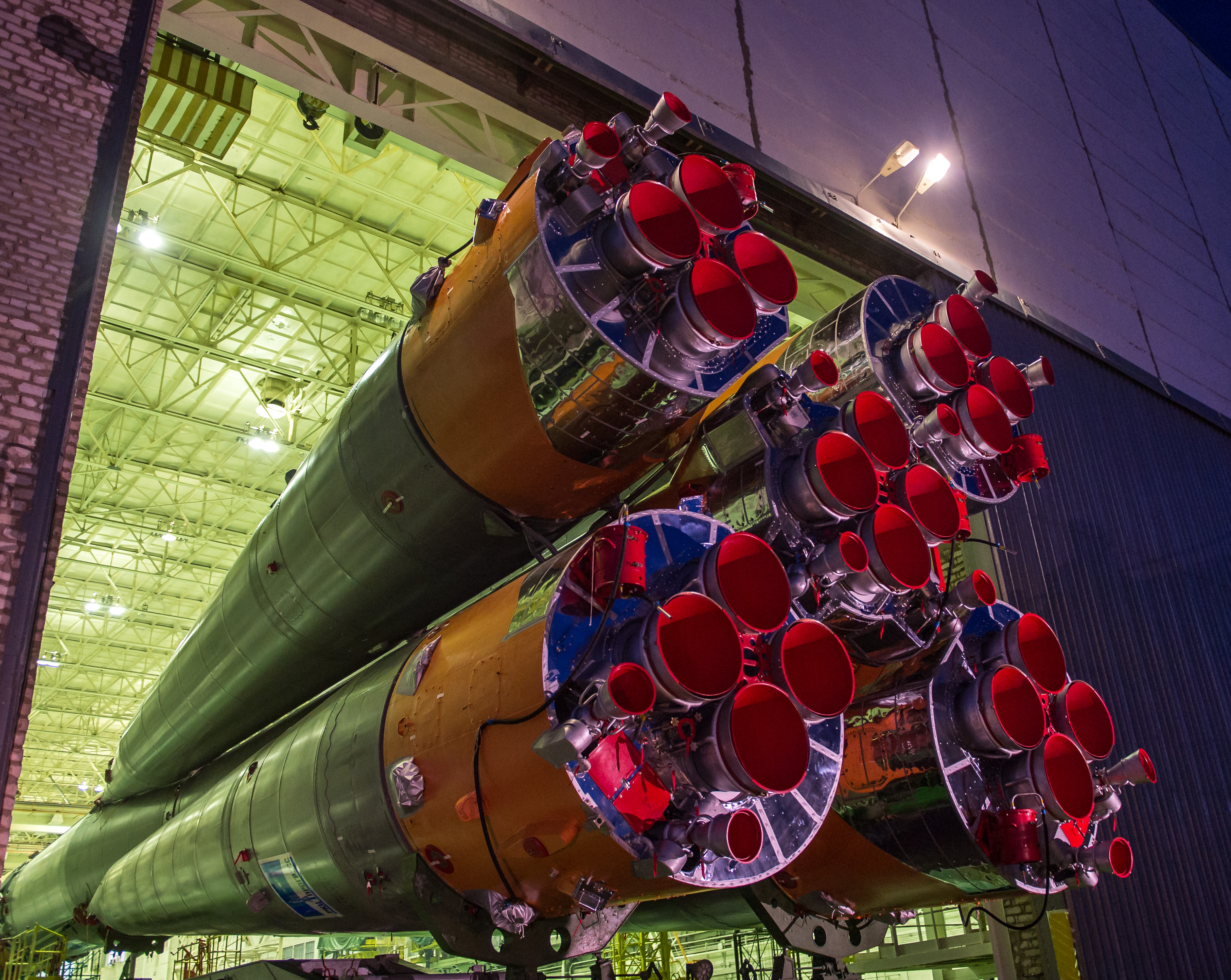 Expedition 43 Soyuz Rolls Out for Launch
