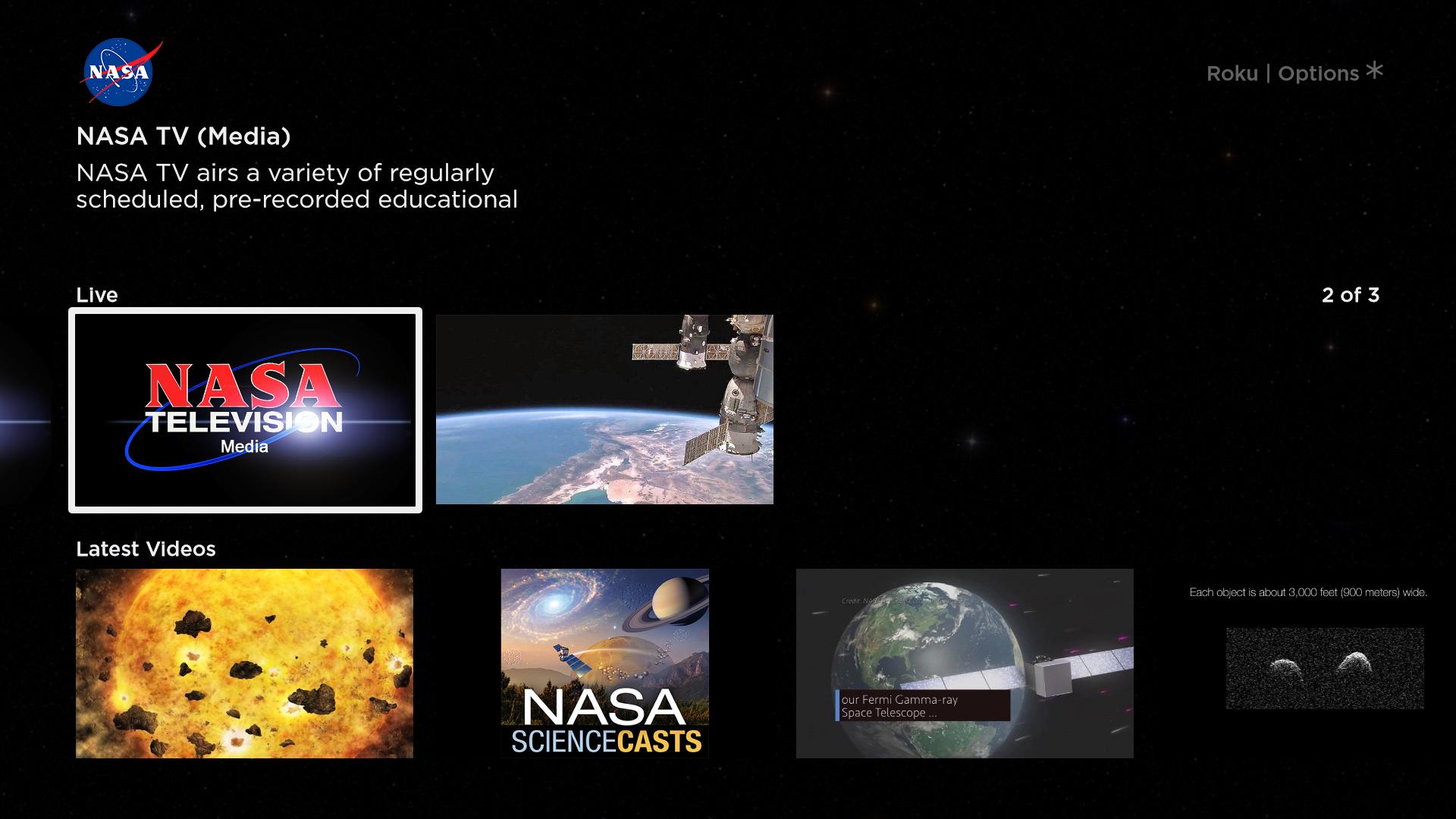 NASA Launches Channel for Roku | NASA