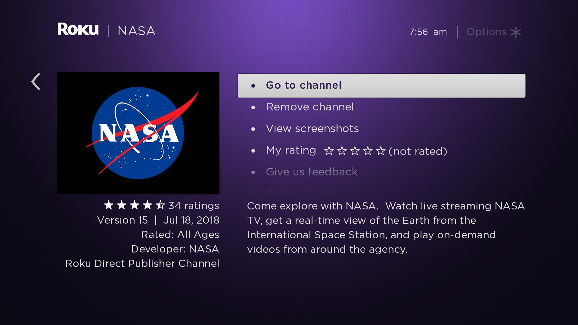 Nasa launches channel for roku nasa nasa launches channel for roku publicscrutiny Images