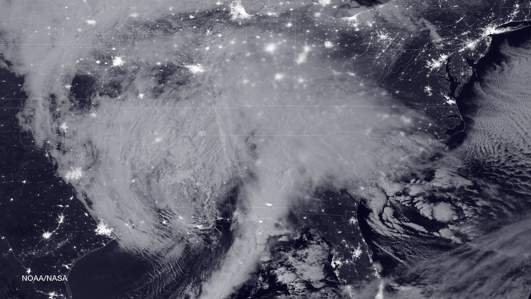 blizzard bears down on us east coast nasa