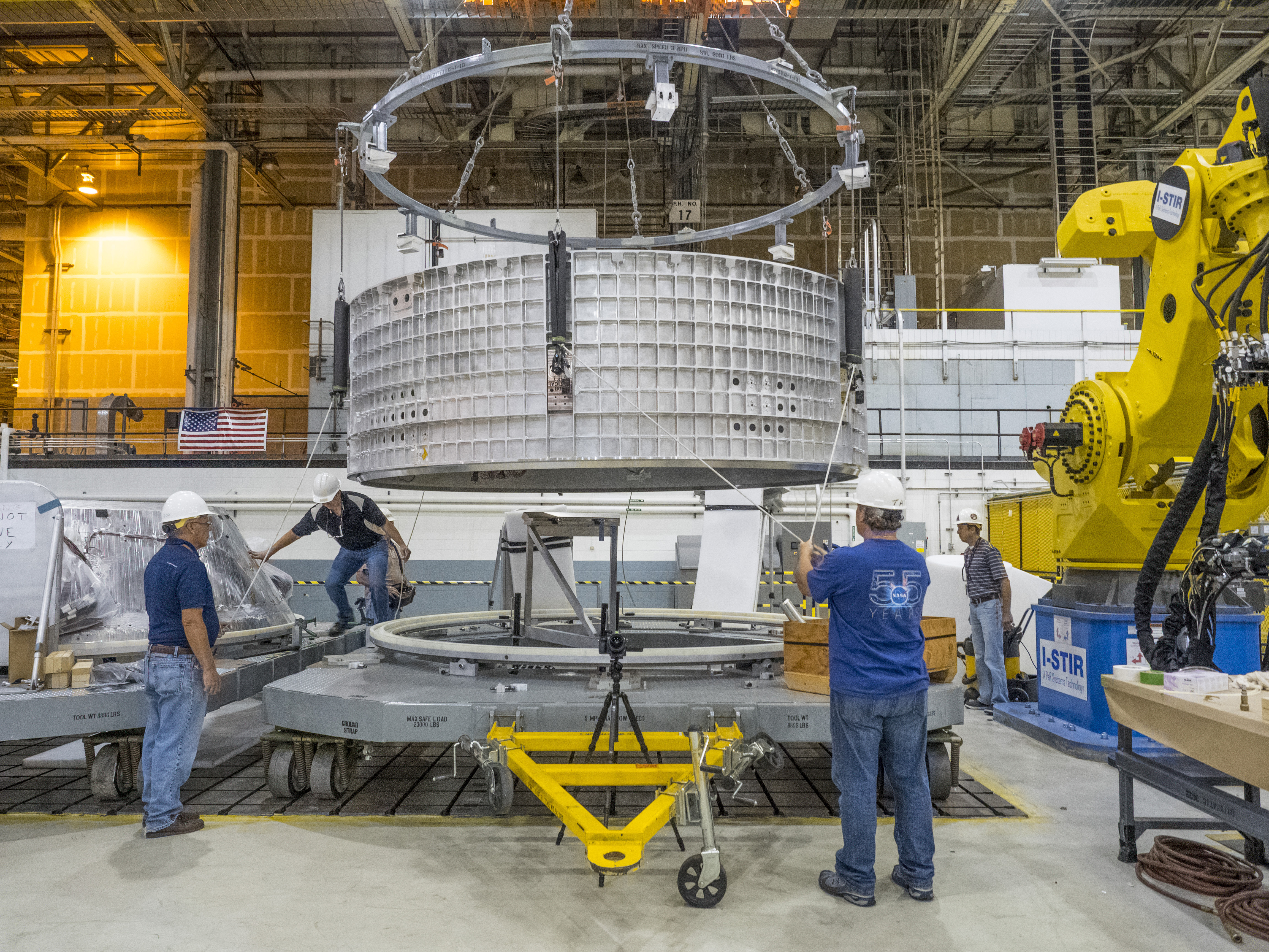 Welding Preparations For Orion Spacecraft At Michoud