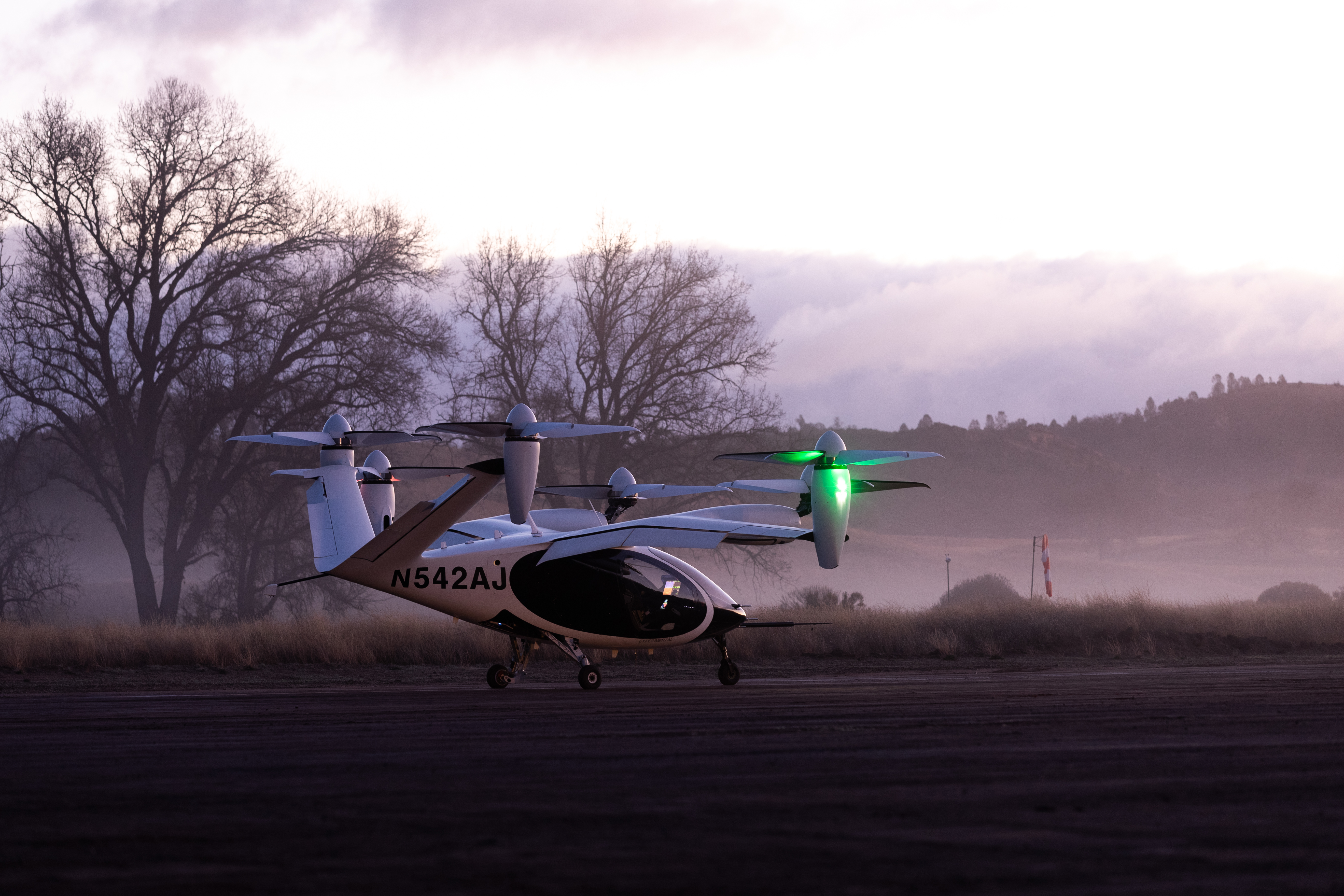 L'eVTOL di Joby Aviation presso la base di Big Sur. Credits: Joby Aviation