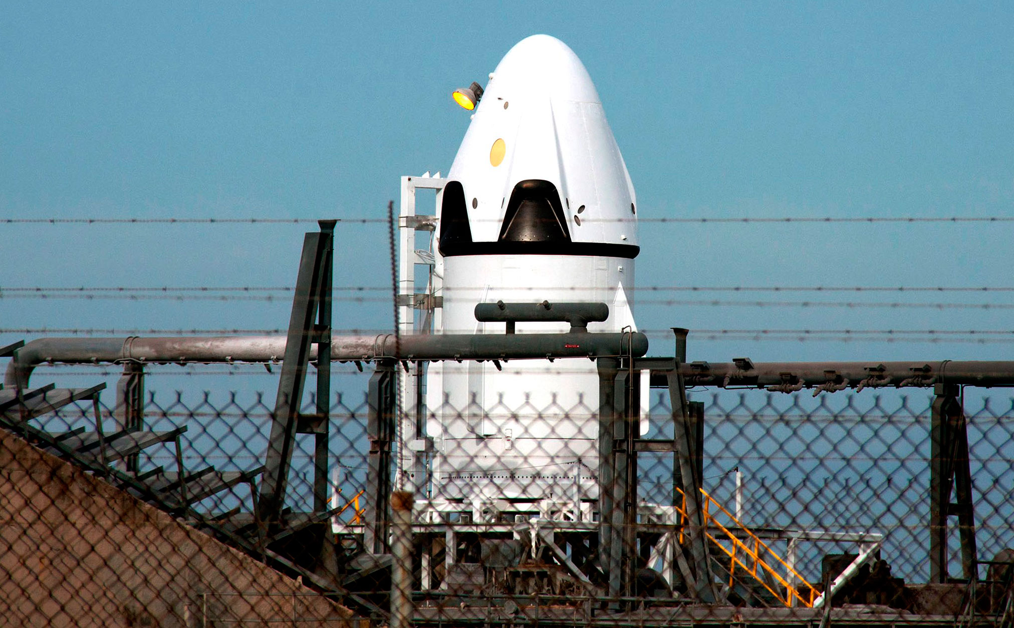 SpaceX Dragon Ready for Pad Abort Test   NASA