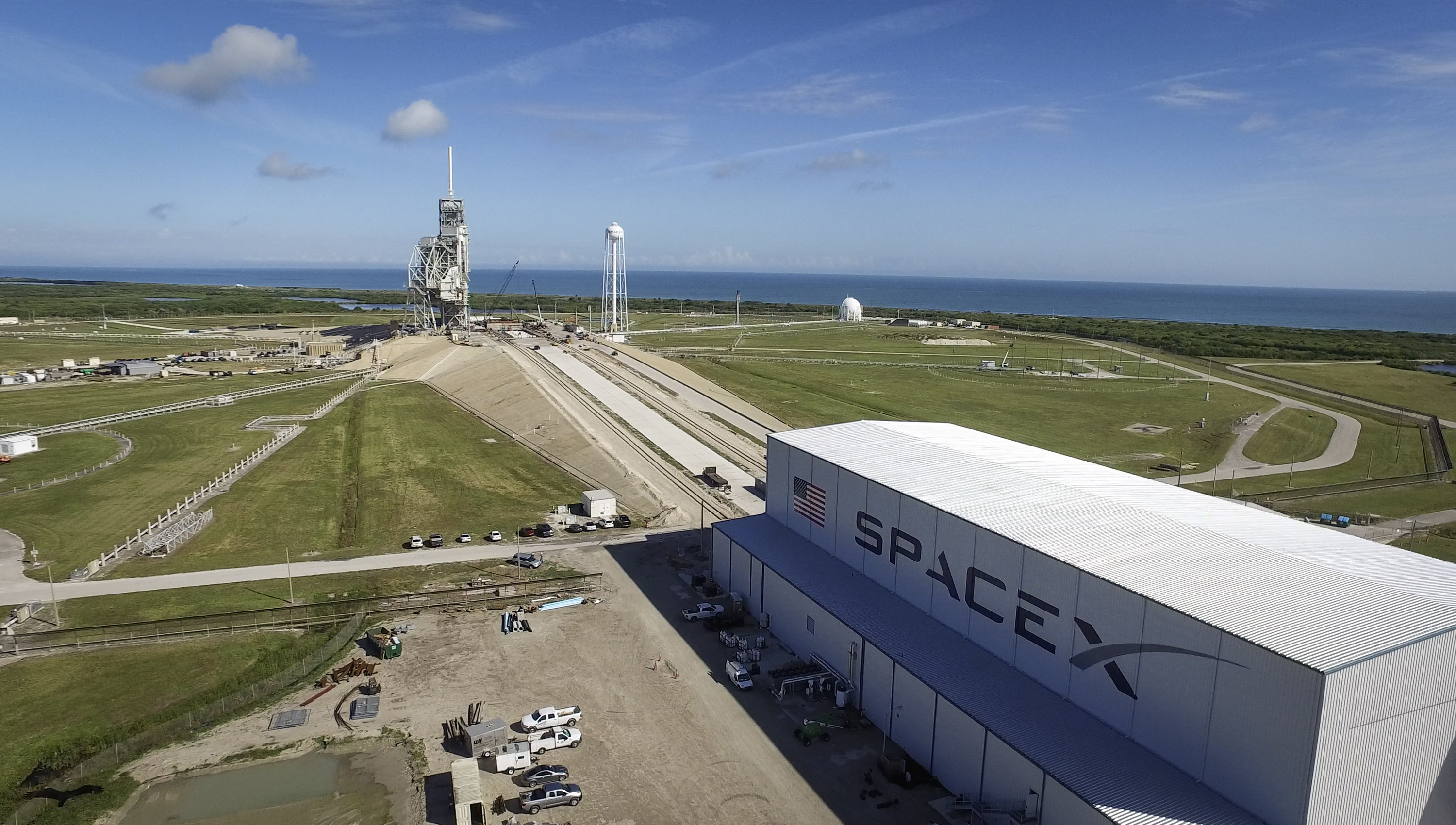 launch pad 39a modifications for spacex launches