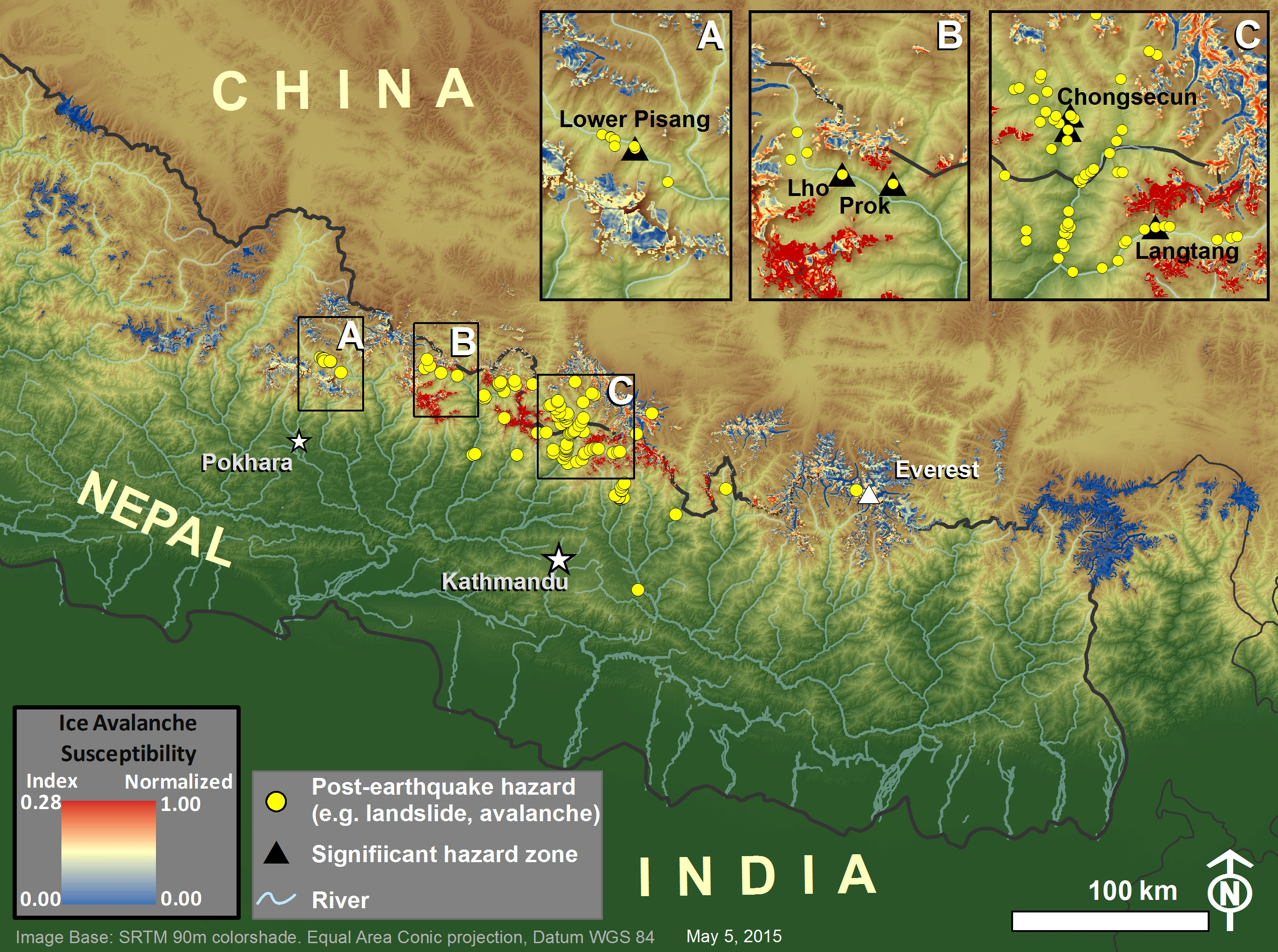 Gorkha earthquake induced ice avalanche susceptibility map nasa nepal diagram gumiabroncs Choice Image