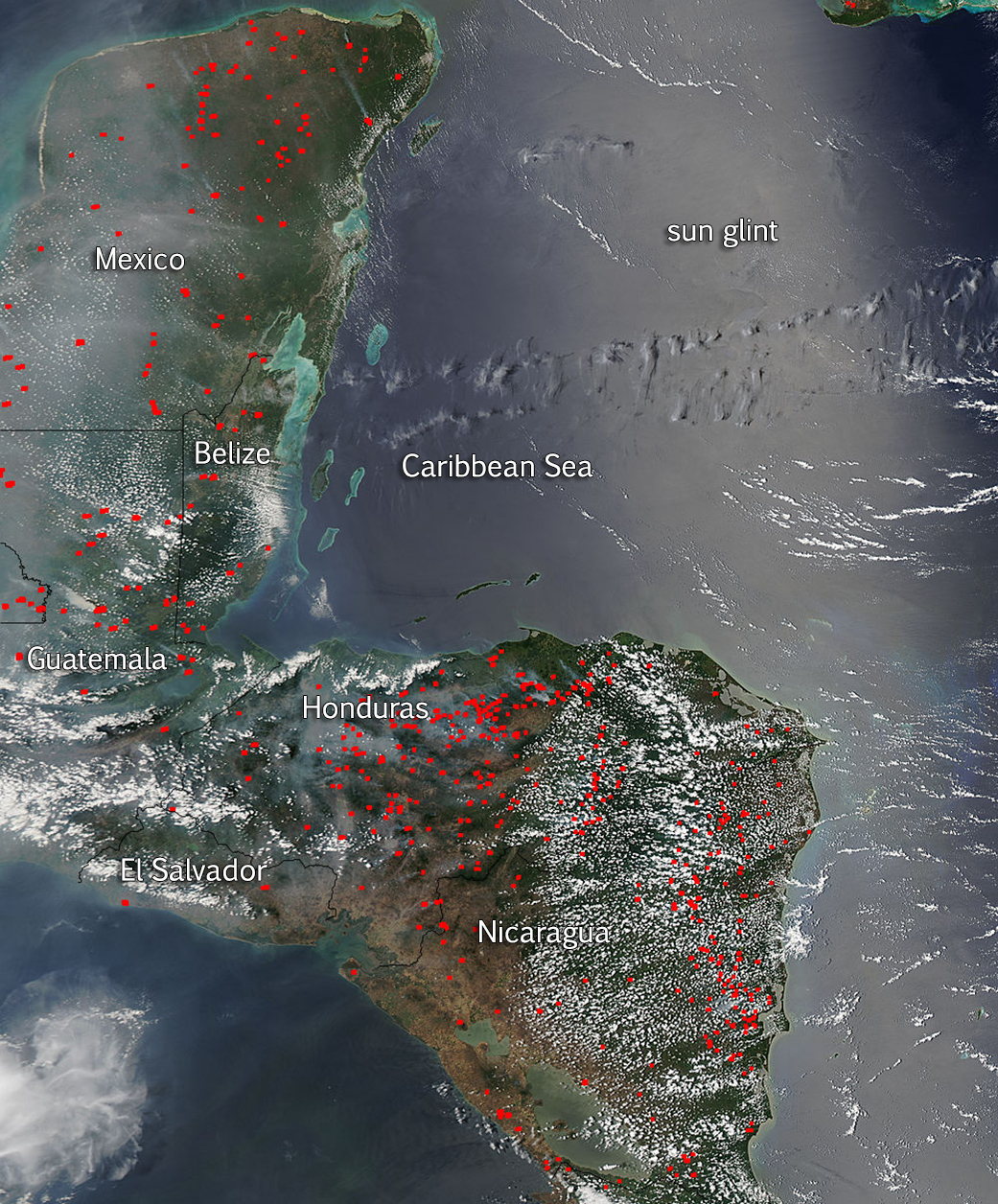 Central America Is On Fire | NASA