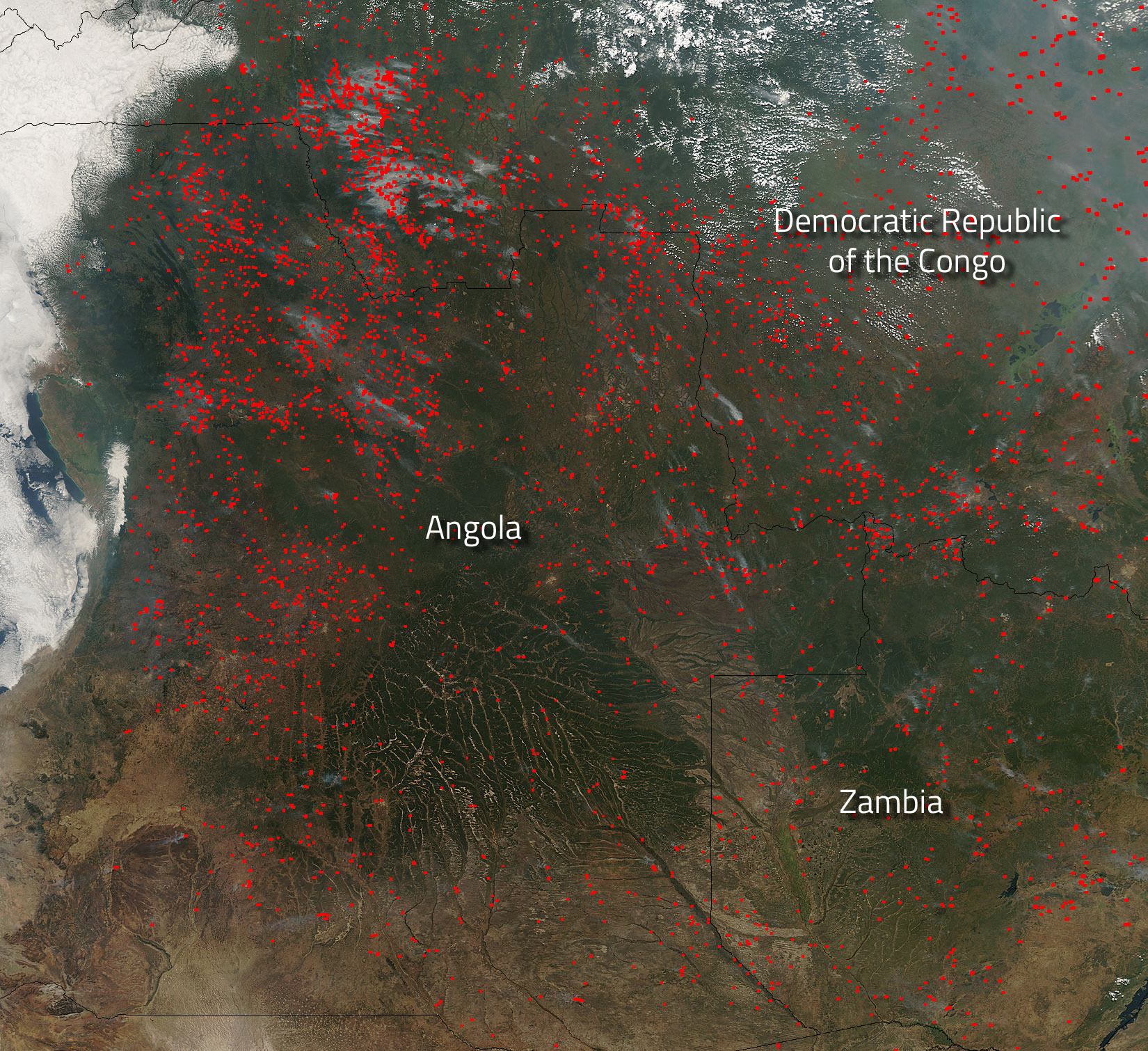 map of zambia with Hundreds Of Agrarian Fires In Angola on Haiti likewise Szukaj 422 czarnogora europa together with Archivo Malawi on the globe  Zambia centered together with Karta together with Hundreds Of Agrarian Fires In Angola.